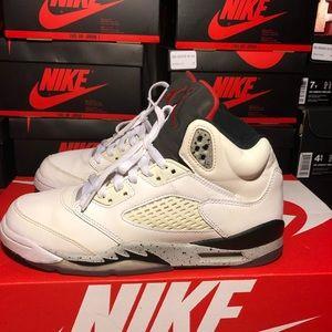"""Air Jordan 5 """"White Cement"""""""
